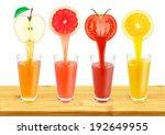 fresh fruit juice flowing from... | Shutterstock . vector #192649955