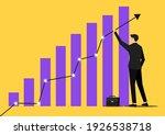 businessman support up arrow on ...   Shutterstock .eps vector #1926538718