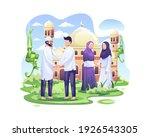 happy muslim people celebrate... | Shutterstock .eps vector #1926543305
