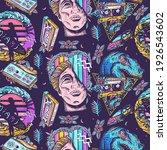 vaporwave art. pop culture...   Shutterstock .eps vector #1926543602
