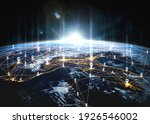 people network and global earth ...   Shutterstock . vector #1926546002