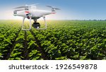 Agricultural Drone Flying Over...