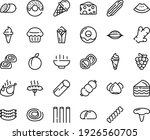 food line icon set   hot bowl ... | Shutterstock .eps vector #1926560705