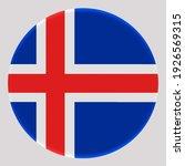 3d flag of iceland on avatar... | Shutterstock . vector #1926569315
