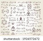 set of floral decorative... | Shutterstock .eps vector #1926572672