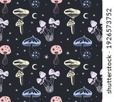 space mushrooms seamless... | Shutterstock .eps vector #1926573752