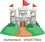 a vector of a castle on top of... | Shutterstock .eps vector #1926577832