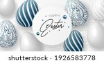 happy easter template with eggs ...   Shutterstock .eps vector #1926583778