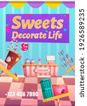 candy shop flyer. sweets... | Shutterstock .eps vector #1926589235
