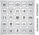 friendship symbol set on gray... | Shutterstock .eps vector #192660365