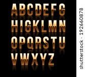 gold font set 1. file contains... | Shutterstock . vector #192660878