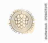 beer hop watercolor logo on... | Shutterstock .eps vector #1926625145