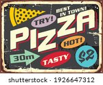retro pizza sign with colorful... | Shutterstock .eps vector #1926647312