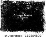grunge frame. vector template | Shutterstock .eps vector #192664802