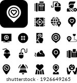 push collection vector icons...