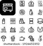 Food Collection Vector Icons...