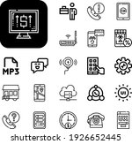 phone collection vector icons...