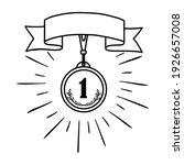 vector illustration of medal... | Shutterstock .eps vector #1926657008