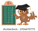 8 times table. owl teacher math ...   Shutterstock .eps vector #1926670775