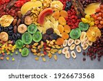 Dried Fruits And Berries On...