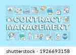 contract management word... | Shutterstock .eps vector #1926693158