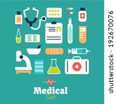 vector   medical icons  | Shutterstock .eps vector #192670076