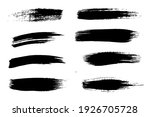a ring of rough paint brushes... | Shutterstock .eps vector #1926705728