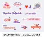 valentine day stickers and...   Shutterstock .eps vector #1926708455