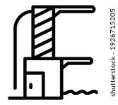 pool jump tower icon. outline... | Shutterstock .eps vector #1926715205