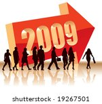 people are going to a new... | Shutterstock .eps vector #19267501
