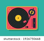 vinyl player turntable icon.... | Shutterstock .eps vector #1926750668