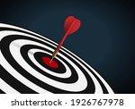 red dart hit to center of... | Shutterstock .eps vector #1926767978