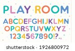 school alphabet cartoon font....   Shutterstock .eps vector #1926800972
