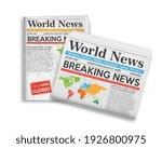 set daily newspaper journal... | Shutterstock .eps vector #1926800975