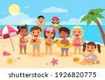 beach kids. happy children... | Shutterstock .eps vector #1926820775