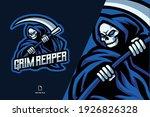Skull Grim Reaper Mascot Logo...