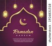 ramadan social media post... | Shutterstock .eps vector #1926831518