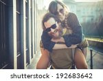 young modern stylish couple... | Shutterstock . vector #192683642
