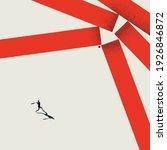 break barriers  business vector ... | Shutterstock .eps vector #1926846872