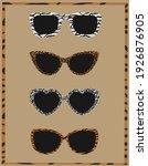 sunglasses. pattern  background ... | Shutterstock .eps vector #1926876905