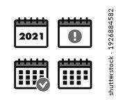 marks calendar icon. calendar... | Shutterstock . vector #1926884582
