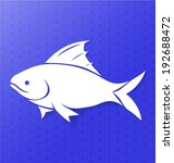 fish carved icon on colored... | Shutterstock .eps vector #192688472