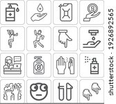 collection of 16 showing lineal ... | Shutterstock . vector #1926892565