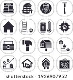 porch 16 filled icon set with... | Shutterstock . vector #1926907952
