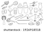 collection set of hand drawn... | Shutterstock .eps vector #1926918518