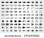 set of various vector arrows.... | Shutterstock .eps vector #192694082