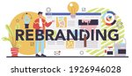 rebranding typographic header.... | Shutterstock .eps vector #1926946028