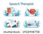 speech therapist concept set.... | Shutterstock .eps vector #1926948758