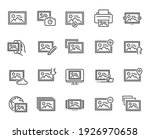 photo line icons. print image ... | Shutterstock .eps vector #1926970658