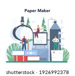 paper production and wood... | Shutterstock .eps vector #1926992378